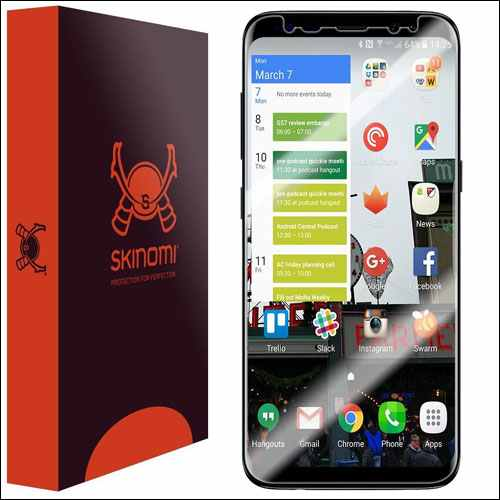 Skinomi Screen Protector for Samsung Gaalxy S8 and S8 Plus