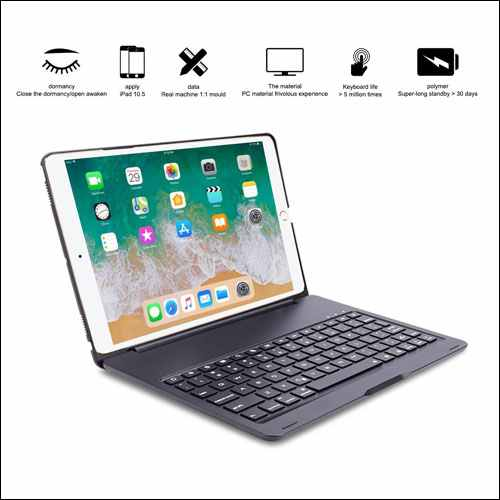 ARIMOOZ Bluetooth Keyboard Case for Apple iPad Pro 10.5 inch