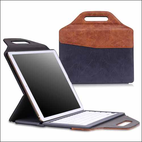 MoKo Leather Carrying Keyboard Case for Apple iPad Pro 12.9 Inch