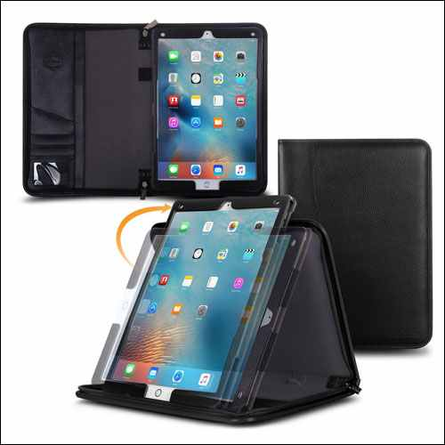 rooCASE Premium Leather Portfolio Case for Apple iPad Pro 12.9