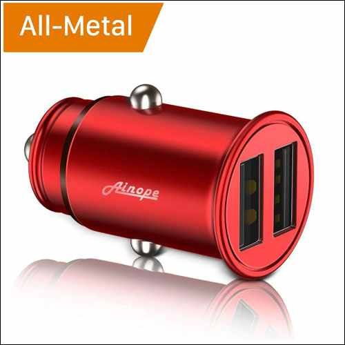 Ainope Dual USB Port Fast Car Charger for iPhone