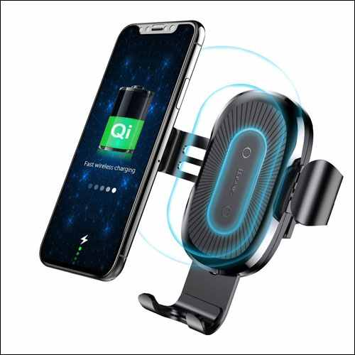 Baseus Qi Enabled Car Mount Phone Holder for iPhone