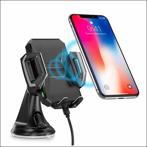 CHOETECH USB Type C Wireless Car Mount Holder for iPhone