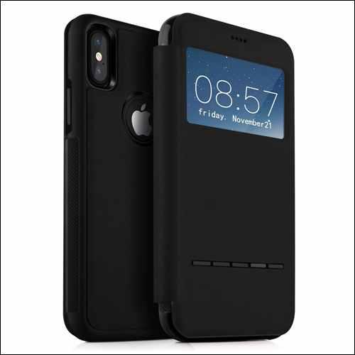 KuGi Folio Case for iPhone X