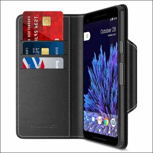 Maxboost Folio Style Google Pixel 2 XL Wallet Case