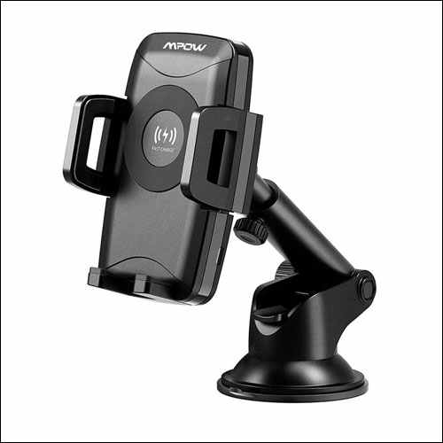 Mpow Qi Wireless Car Charger Mount for iPhone
