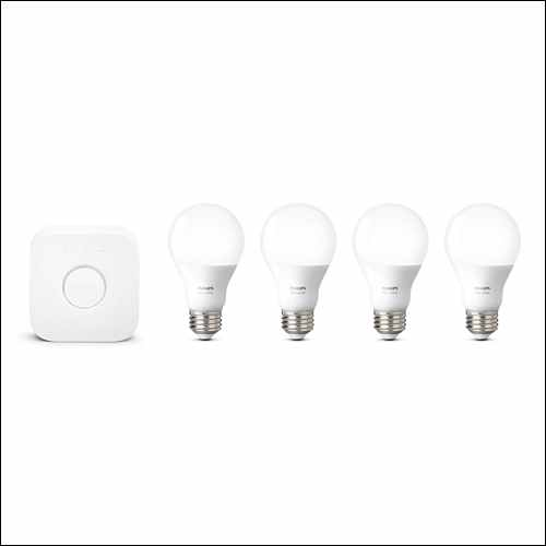 Philips Hue White Smart Bulb Starter Kit Google Home Smart Devices