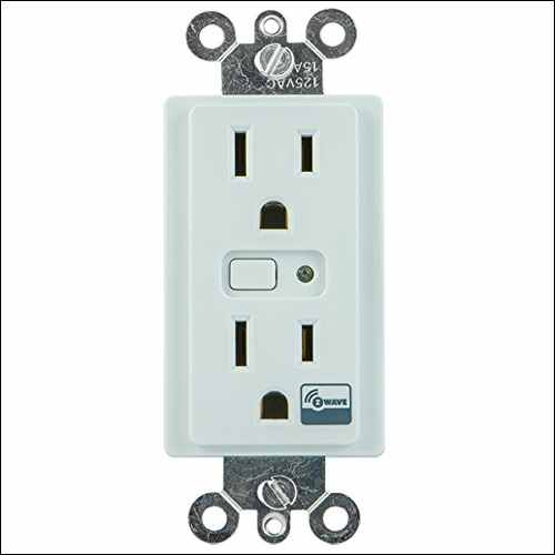 GE Z-Wave Wireless Smart Lighting Control Duplex Receptacle Outlet