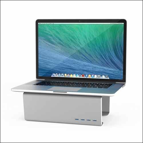 Satechi Premium Aluminum Monitor Stand V1.0 with 4 USB 3.0 Ports for iMac Pro