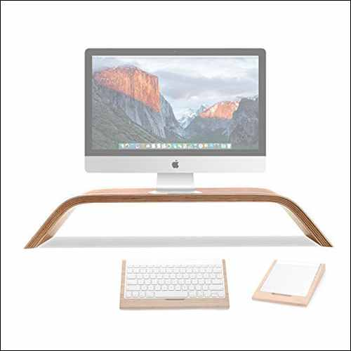 TansyShop Universal Desktop Computer Monitor Heighten Wooden Stand Dock Holder Display Bracket for iMac Pro