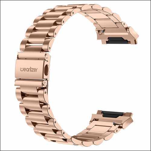 Wearlizer Stainless Steel Bracelet Strap for Fitbit Ionic Smartwatch