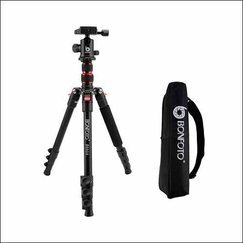BONFOTO B690A Lightweight Aluminum Alloy Camera Travel Portable Tripod