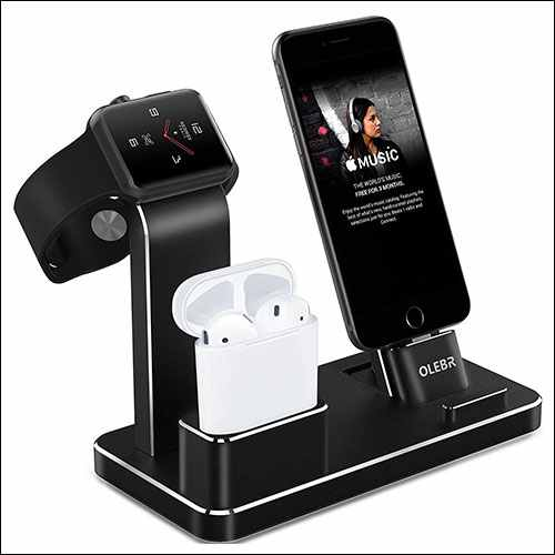 OLEBR Apple Watch Stand Aluminum Apple Watch Charging Stand