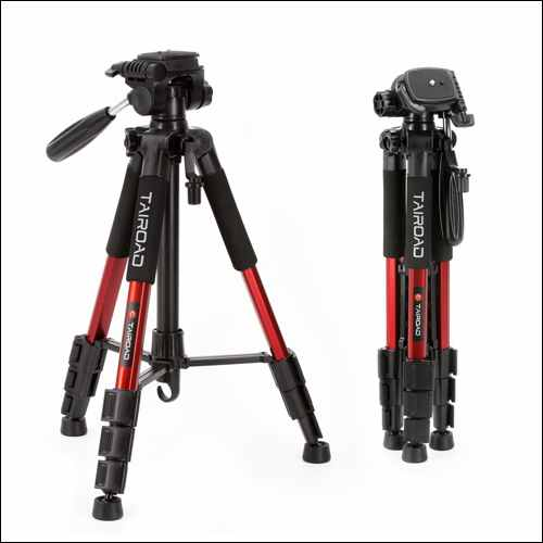 Tairoad Aluminum Travel Camera Lightweight Tripod
