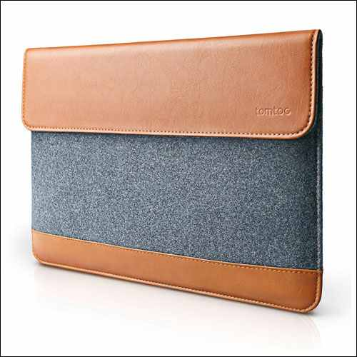 Tomtoc Leather MacBook Pro Sleeve
