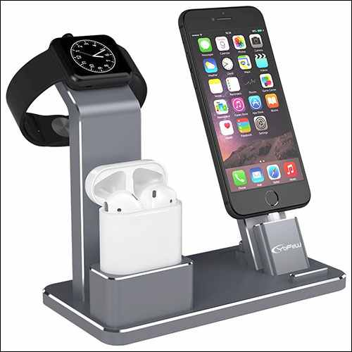 YoFeW Apple iWatch Stand Aluminum 4 in 1 Apple Watch Charging Stand