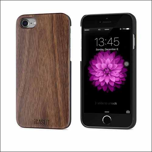 iCASEIT Protective iPhone 8 Wood Case