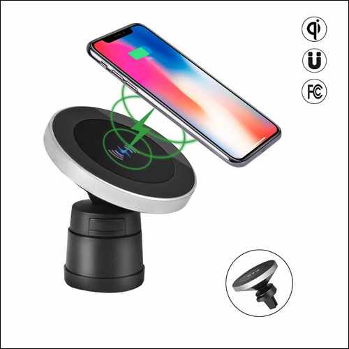 HousePlus Magnetic QI Wireless Car Charger Mount for iPhone and Android