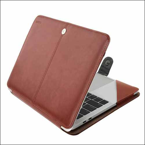 Mosiso Leather Case for MacBook Pro 15 Inch with Touch Bar