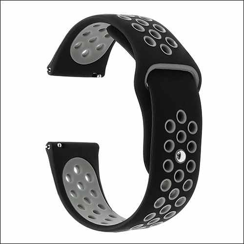 TrumiRR 46mm Silicone Rubber Watch Band for Galaxy Watch