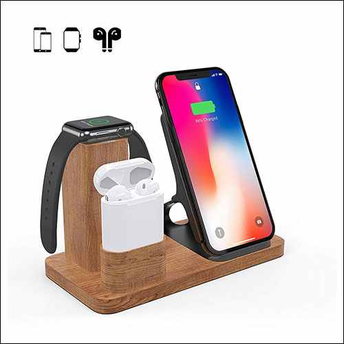 OLVOO Charging Stand for iPhone, Apple Watch and AirPods