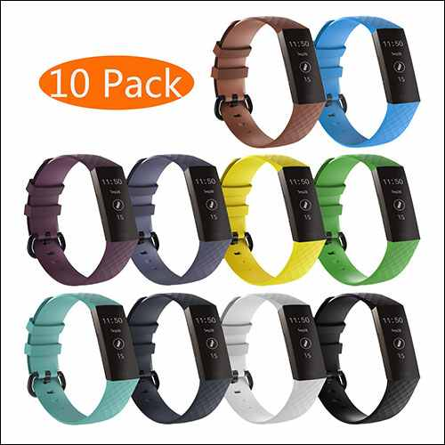 KingAcc Fitbit Charge 3 Strap