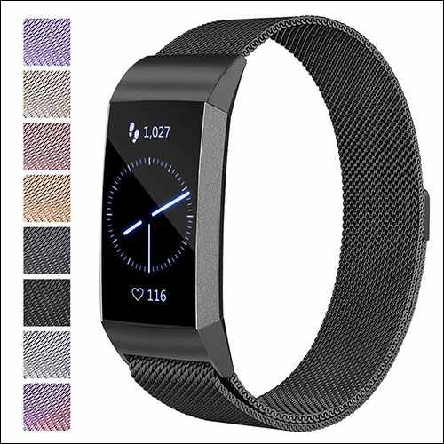 Maledan Fitbit Charge 3 Milanese Loop Band