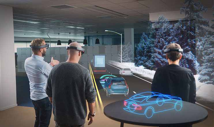 VR in HoloLens Showroom
