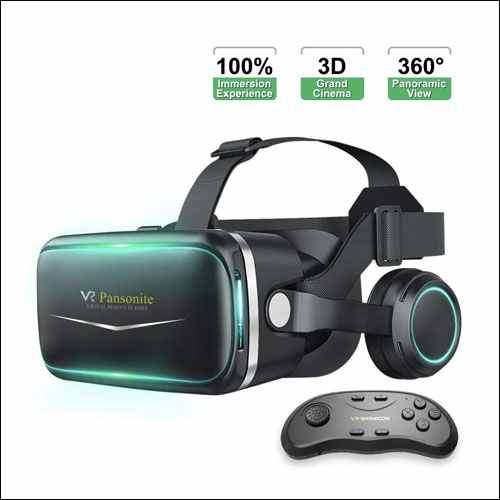 Pansonite iPhone VR Headset with Remote Controller