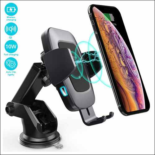 Heiyo Qi Wireless Car Charger Mount for Samsung Galaxy Phones