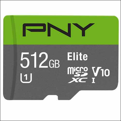 PNY Elite 512GB microSD Card for Samsung Galaxy Phones