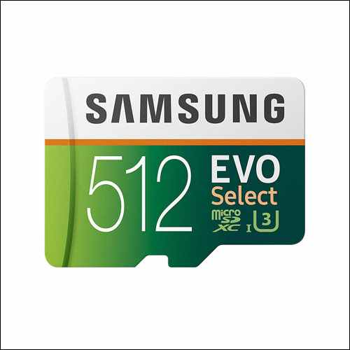 Samsung EVO Select 512GB Memory Card with Adapter for Samsung Galaxy Phones