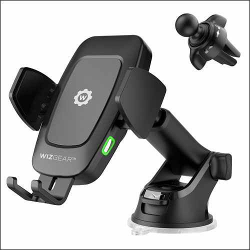 WizGear Automatic Qi Wireless Car Charging Mount for Samsung Galaxy Phones