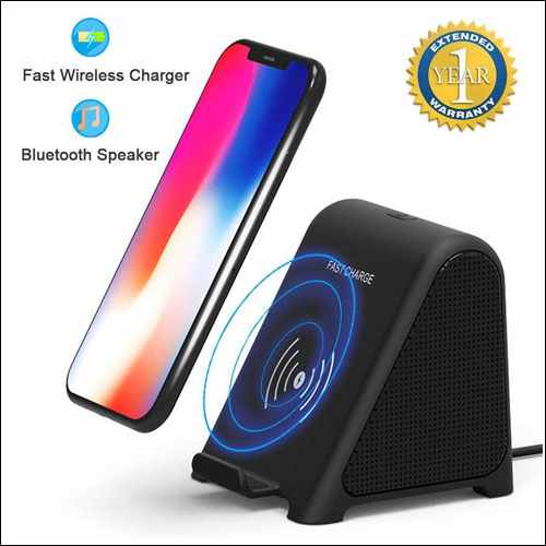 XBC Tech Fast Wireless Charger with Bluetooth Speaker for iPhone