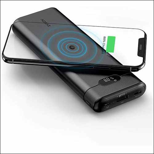 AIDEAZ Qi Wireless Charger Power Bank for iPhone