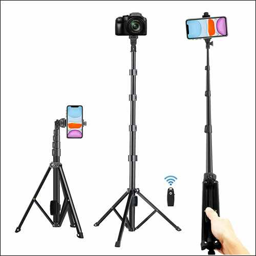 Alptoy Extendable Tripod Stand Wireless Remote Shutter Compatible With iPhone