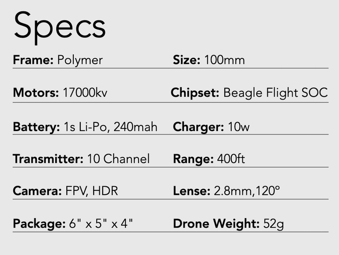 Neo Drone Specifications