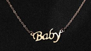 Best Gold Necklace That Says Baby